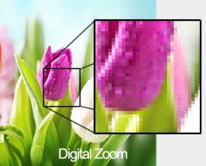 Mobiele fotografie en digital zoom